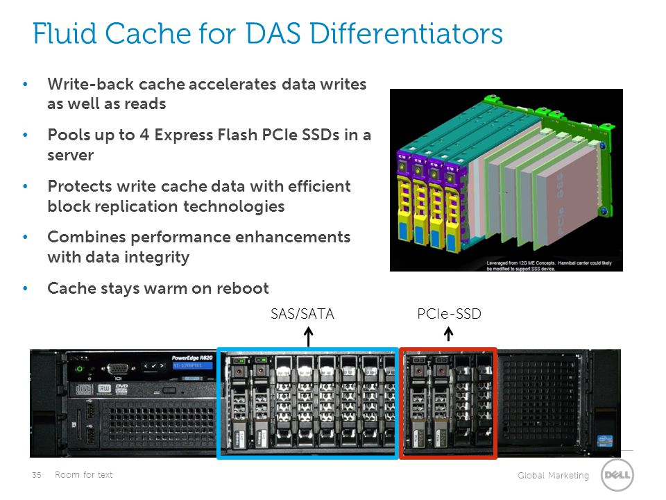 Fluid Cache for DAS Differentiators