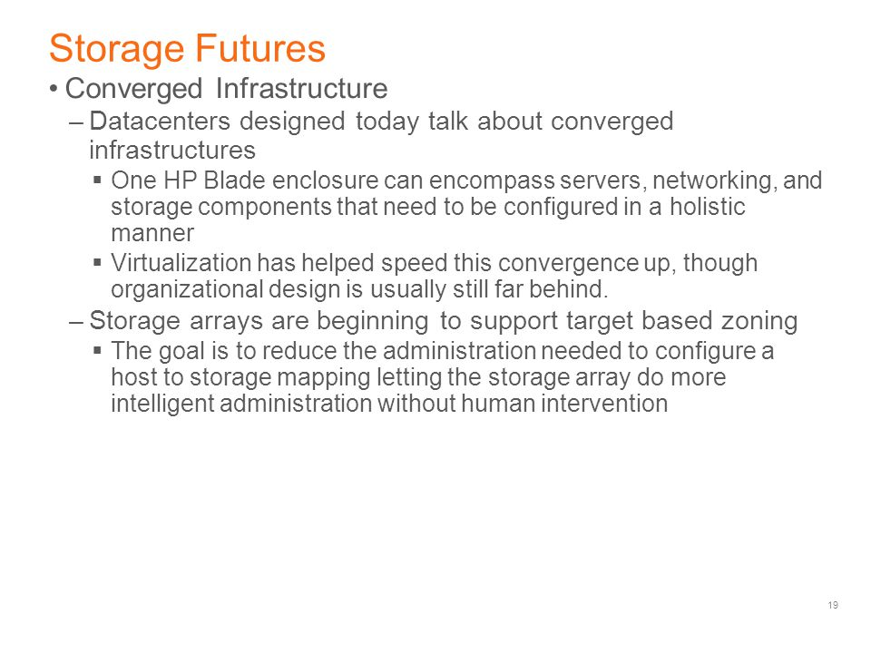 Storage Futures Converged Infrastructure
