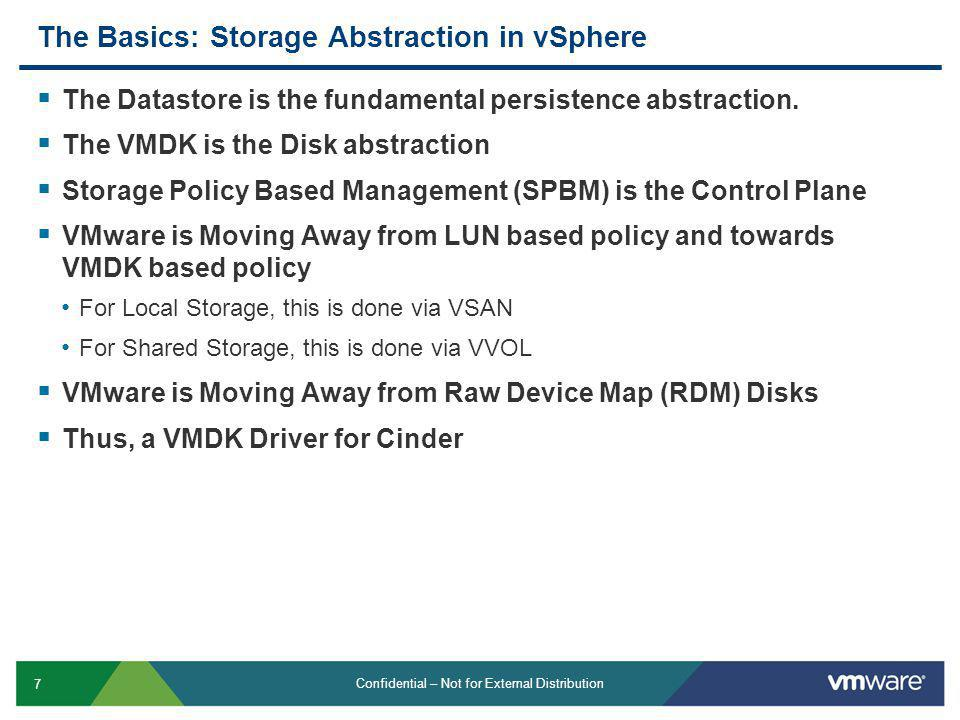 The Basics: Storage Abstraction in vSphere