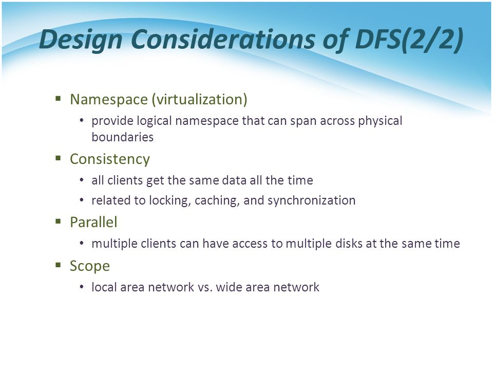 Design Considerations of DFS(2/2)