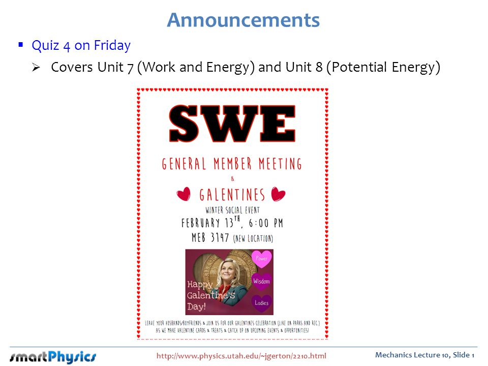 Announcements Quiz 4 on Friday