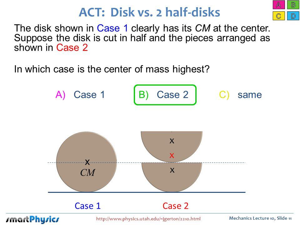 ACT: Disk vs. 2 half-disks