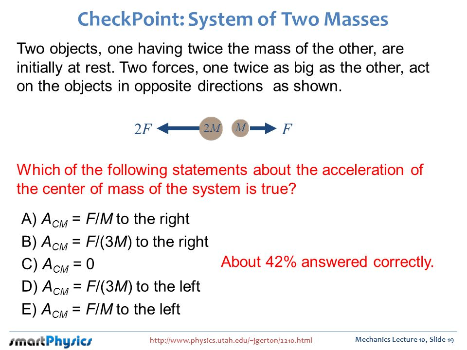 CheckPoint: System of Two Masses