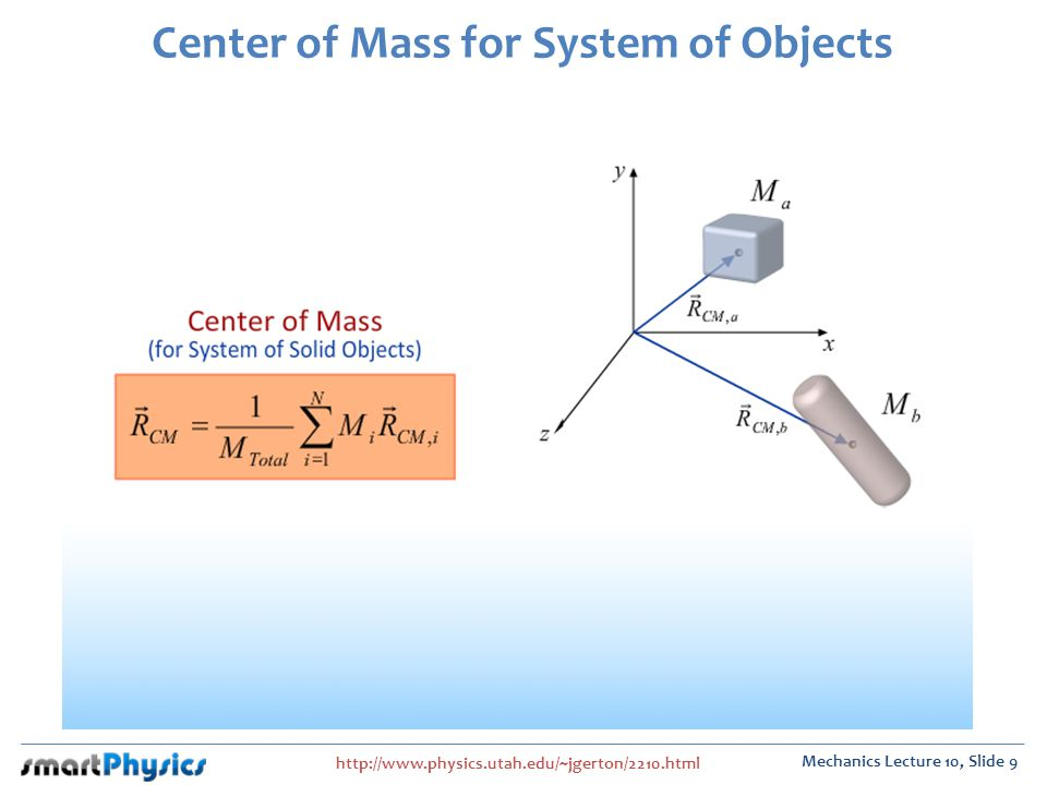 Center of Mass for System of Objects
