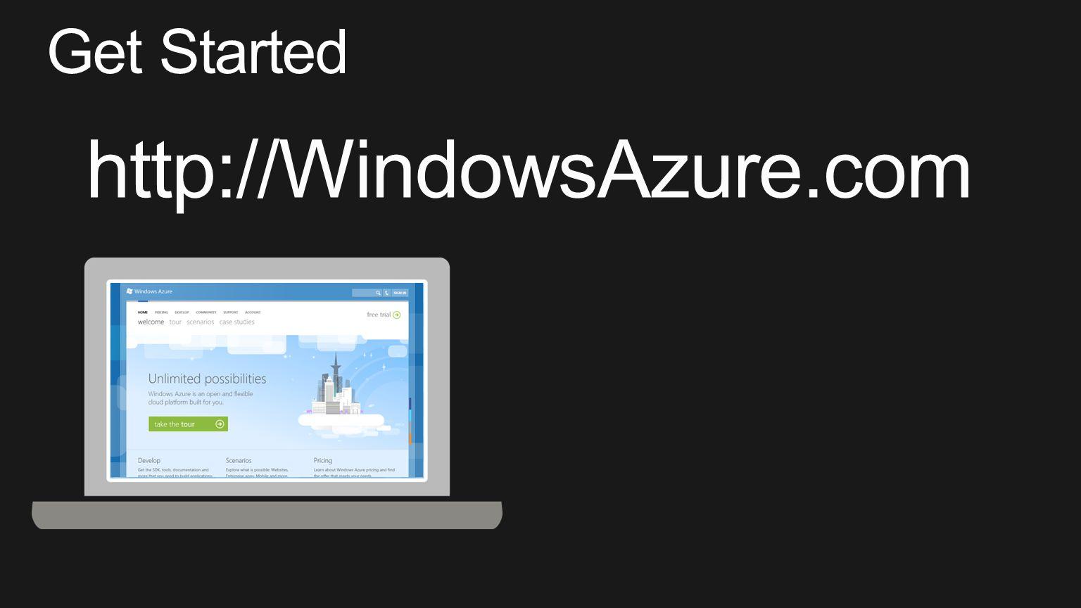 Get Started http://WindowsAzure.com