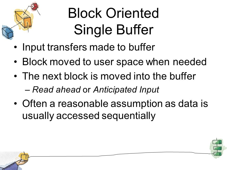 Block Oriented Single Buffer