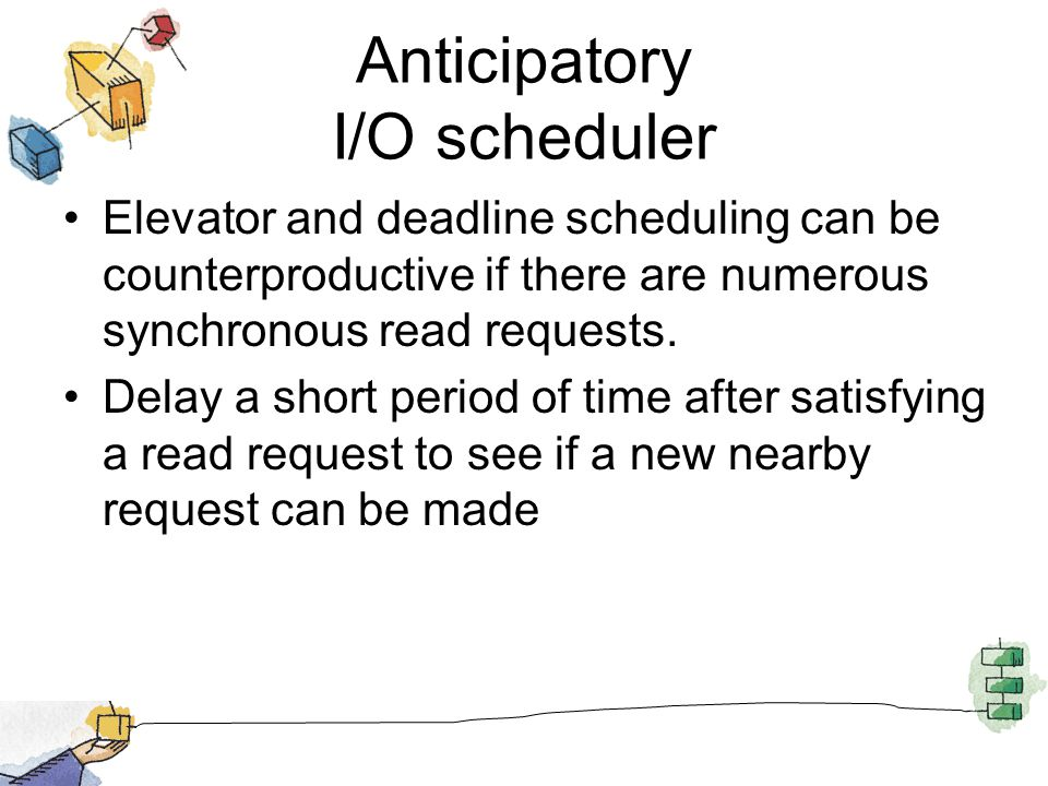Anticipatory I/O scheduler