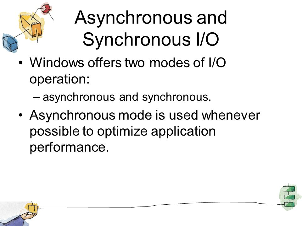Asynchronous and Synchronous I/O