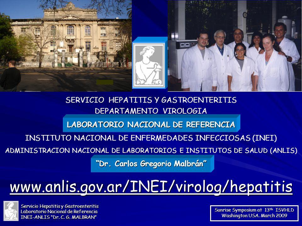 LABORATORIO NACIONAL DE REFERENCIA Dr. Carlos Gregorio Malbrán