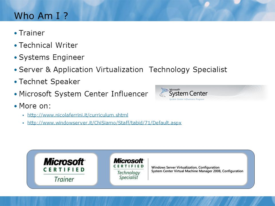 Who Am I Trainer Technical Writer Systems Engineer