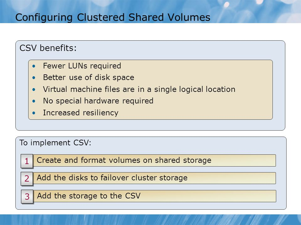 Configuring Clustered Shared Volumes