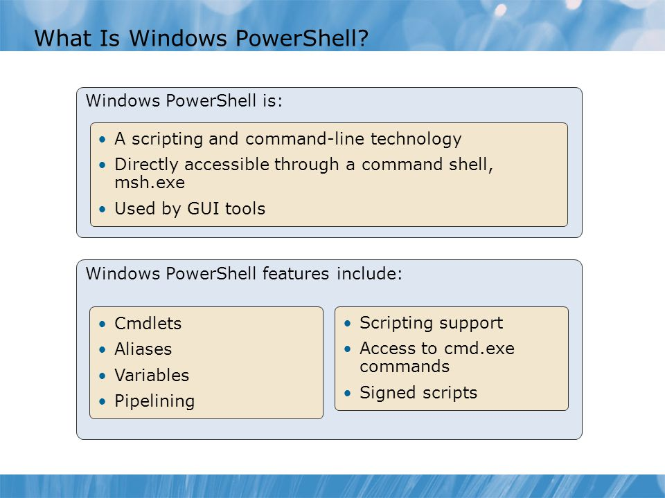What Is Windows PowerShell