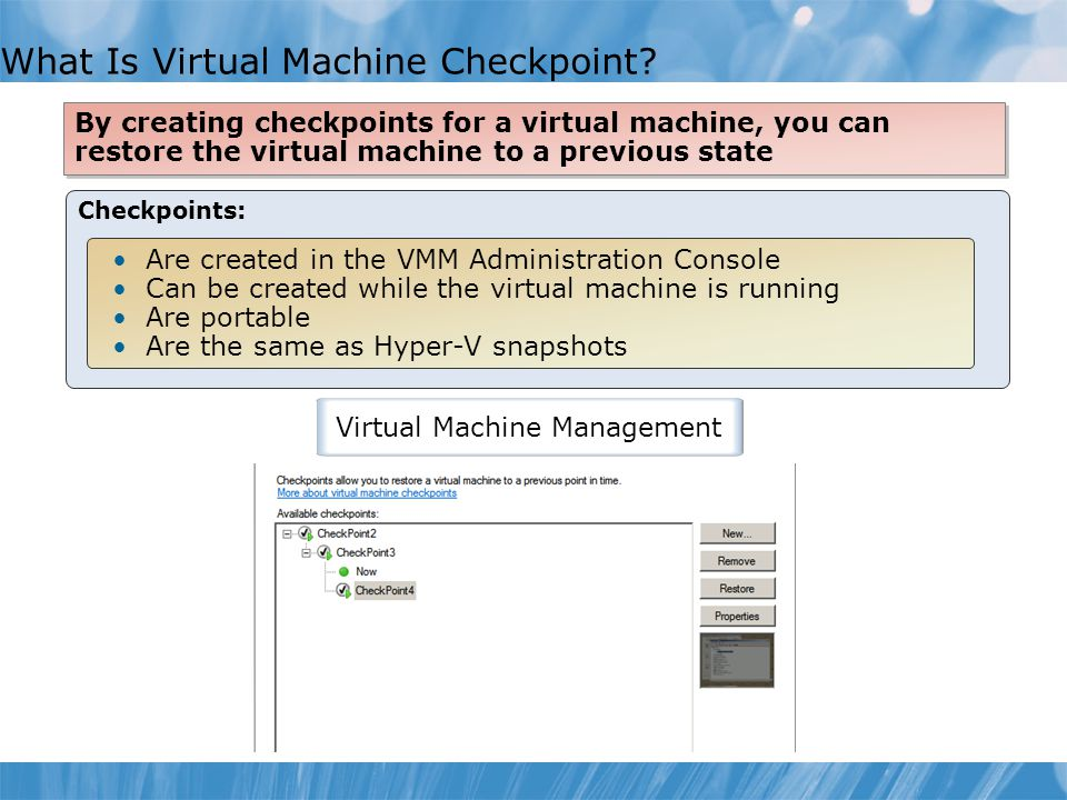 What Is Virtual Machine Checkpoint