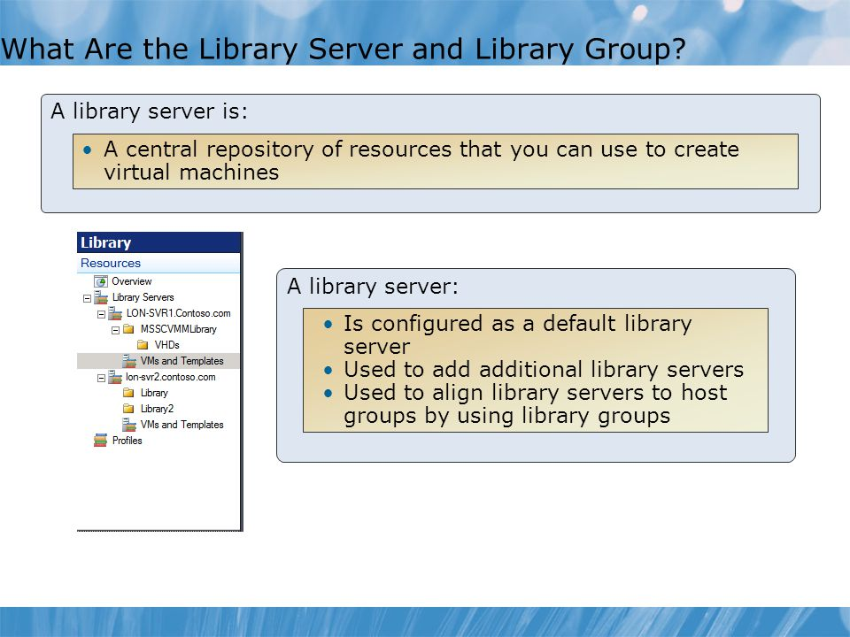 What Are the Library Server and Library Group
