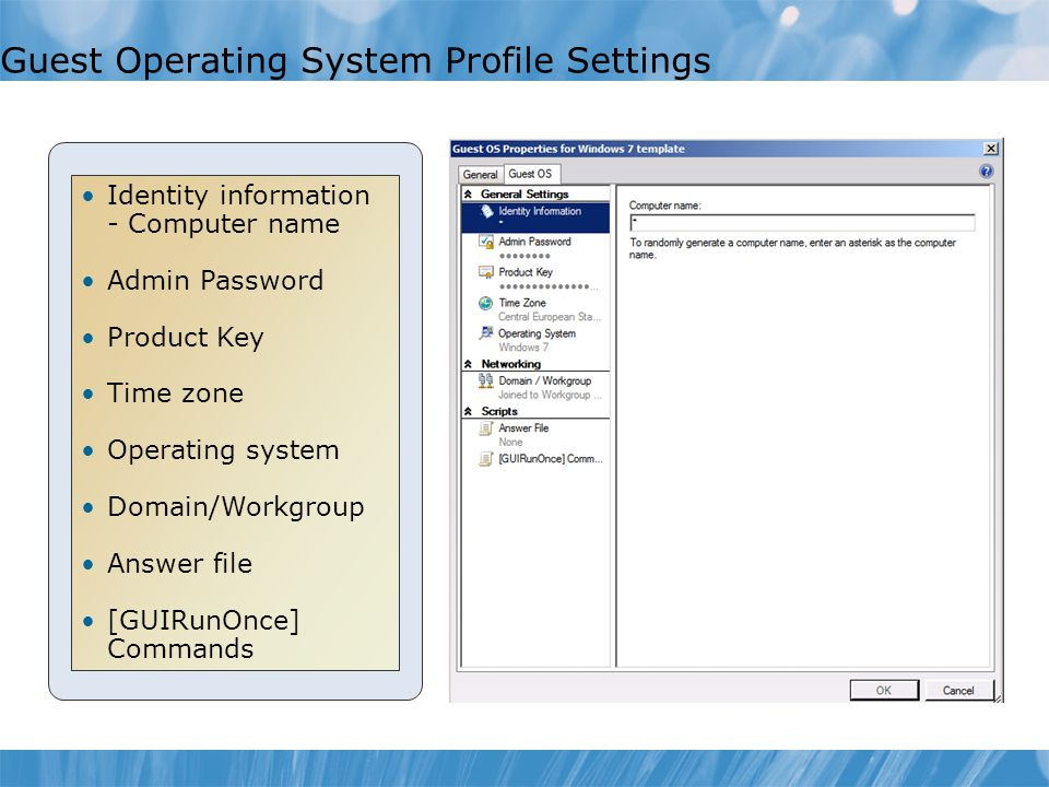 Guest Operating System Profile Settings