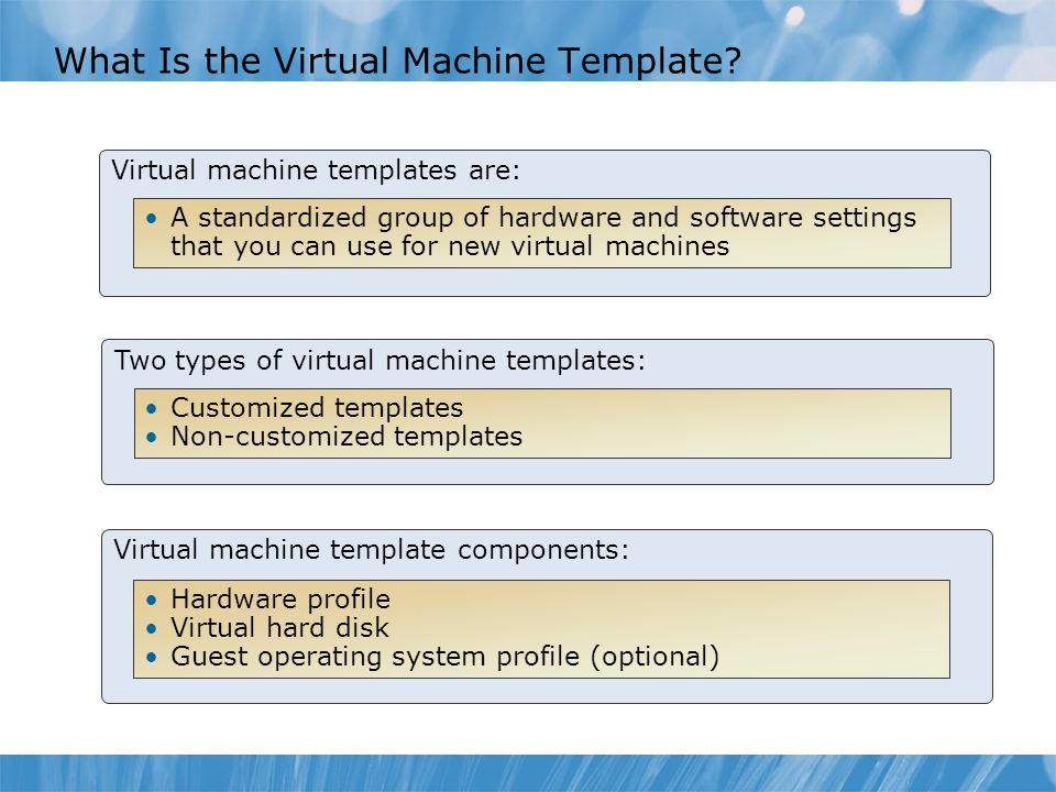 What Is the Virtual Machine Template