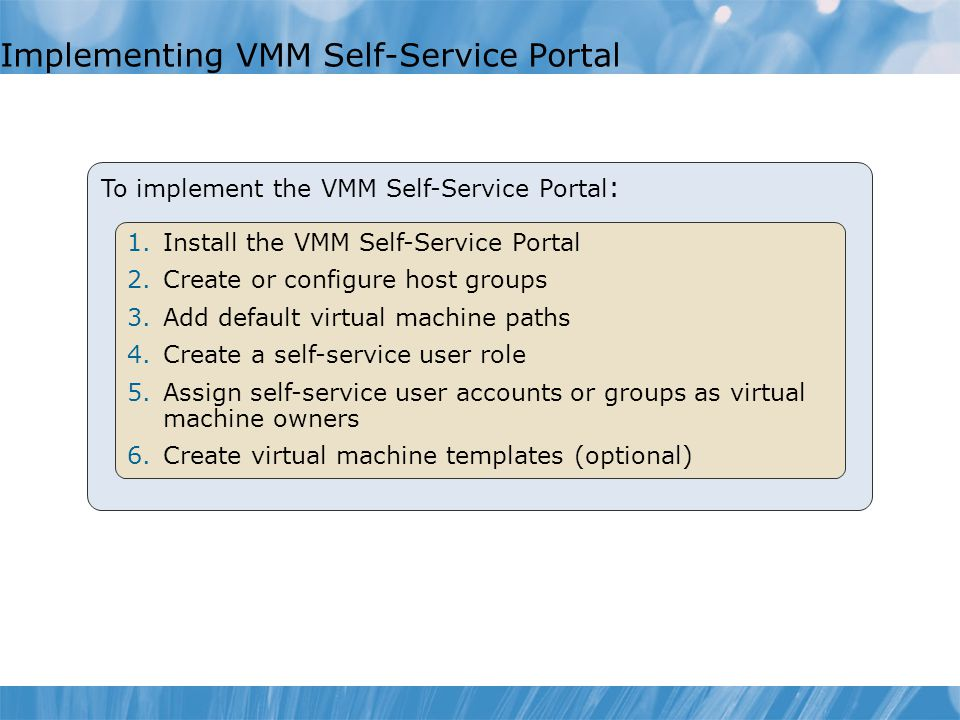 Implementing VMM Self-Service Portal
