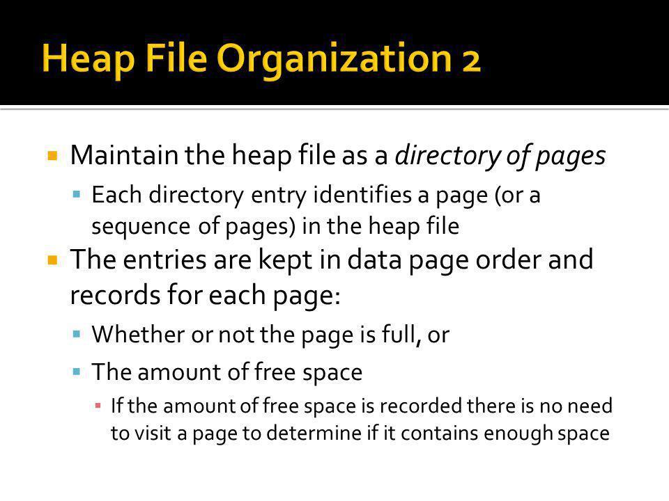 Heap File Organization 2