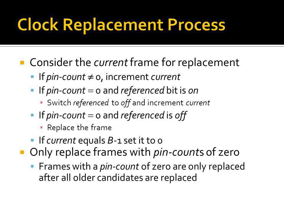 Clock Replacement Process