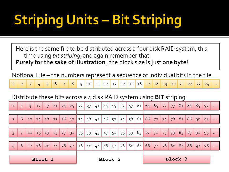 Striping Units – Bit Striping