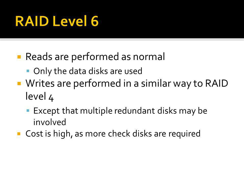 RAID Level 6 Reads are performed as normal