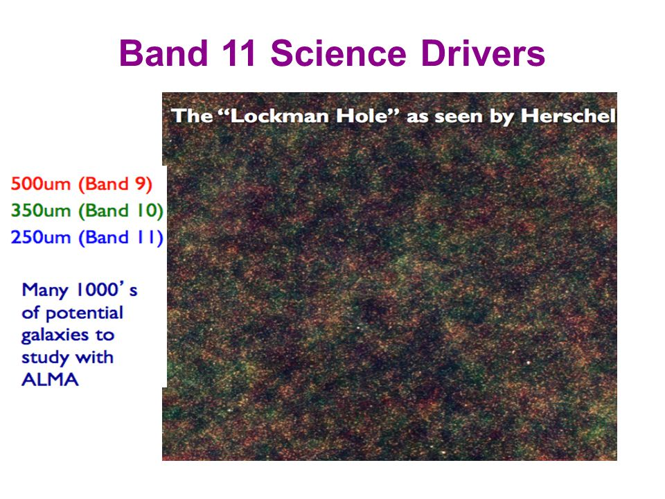 Band 11 Science Drivers Studies of the continuum
