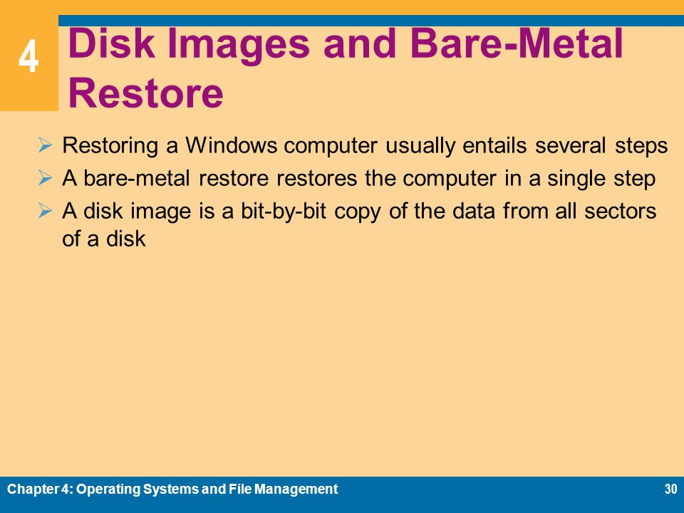 Disk Images and Bare-Metal Restore
