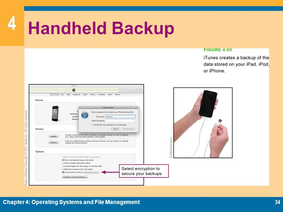 Handheld Backup Chapter 4: Operating Systems and File Management