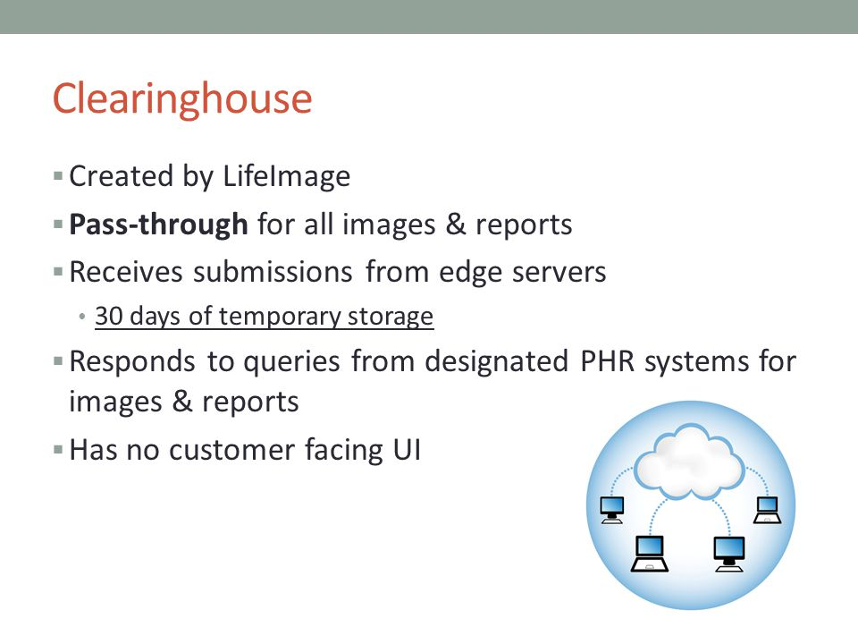 Clearinghouse Created by LifeImage