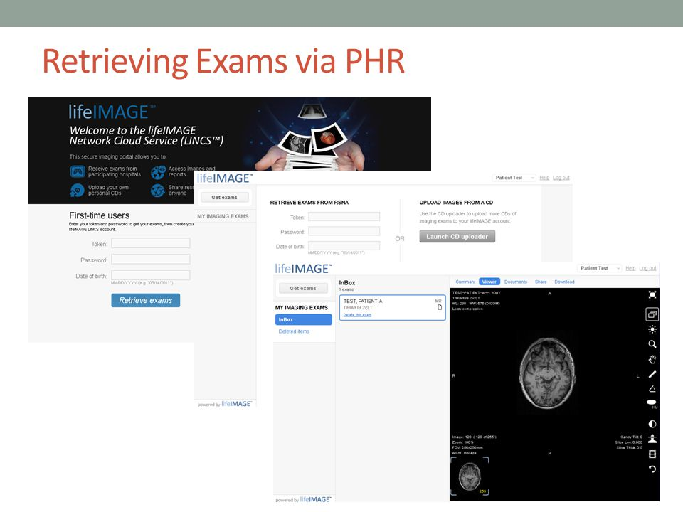 Retrieving Exams via PHR