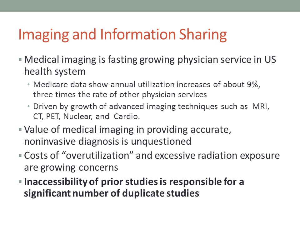 Imaging and Information Sharing