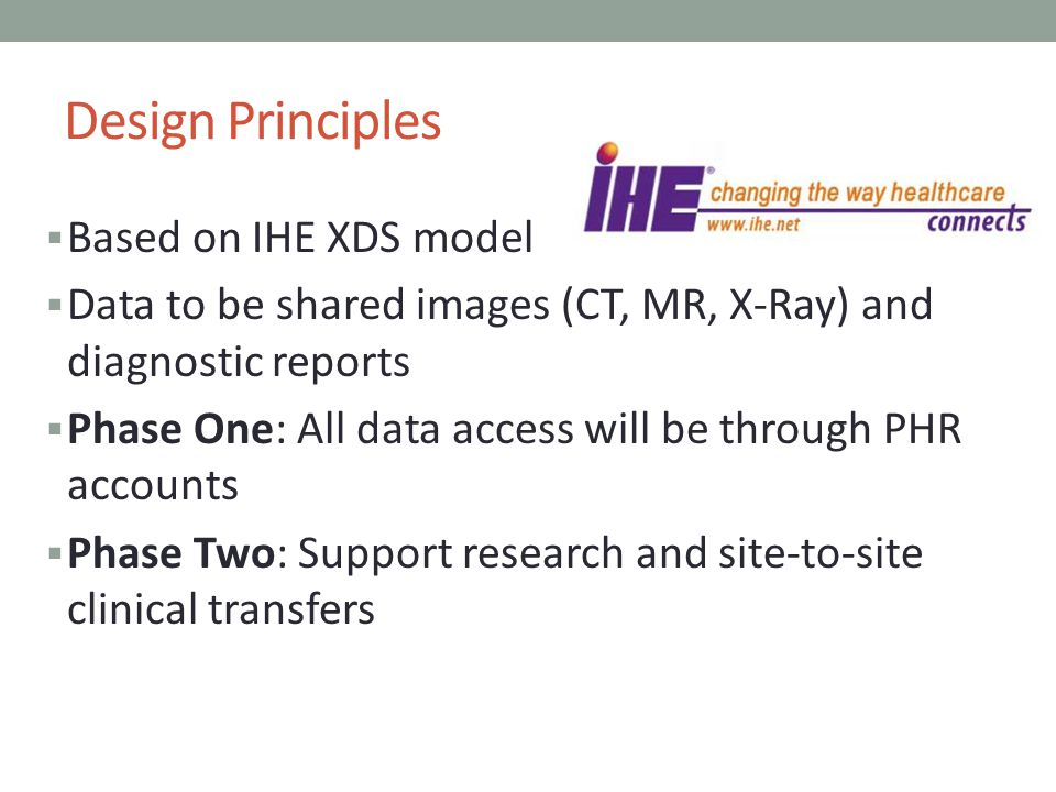 Design Principles Based on IHE XDS model