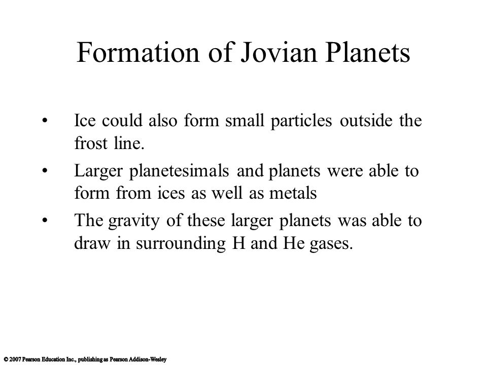 Formation of Jovian Planets