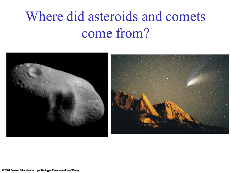 Where did asteroids and comets come from