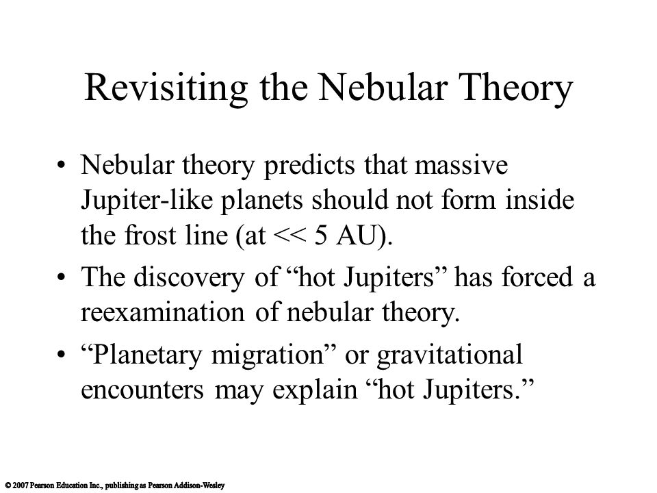 Revisiting the Nebular Theory