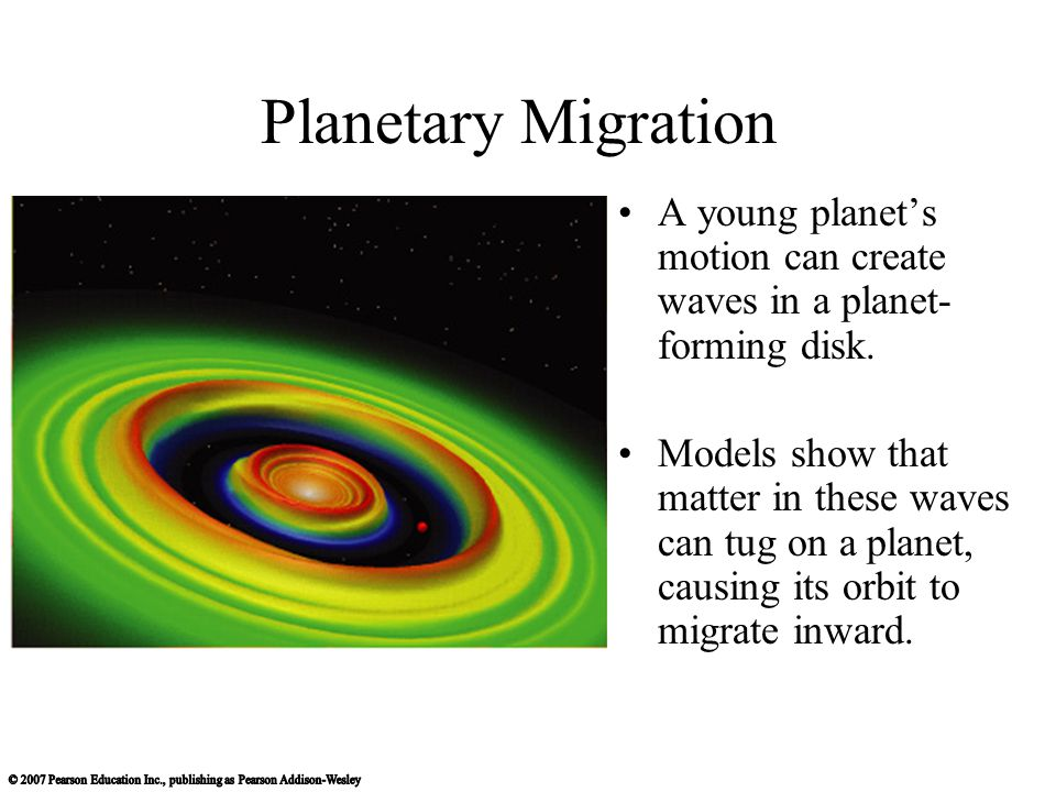 Planetary Migration A young planet's motion can create waves in a planet-forming disk.