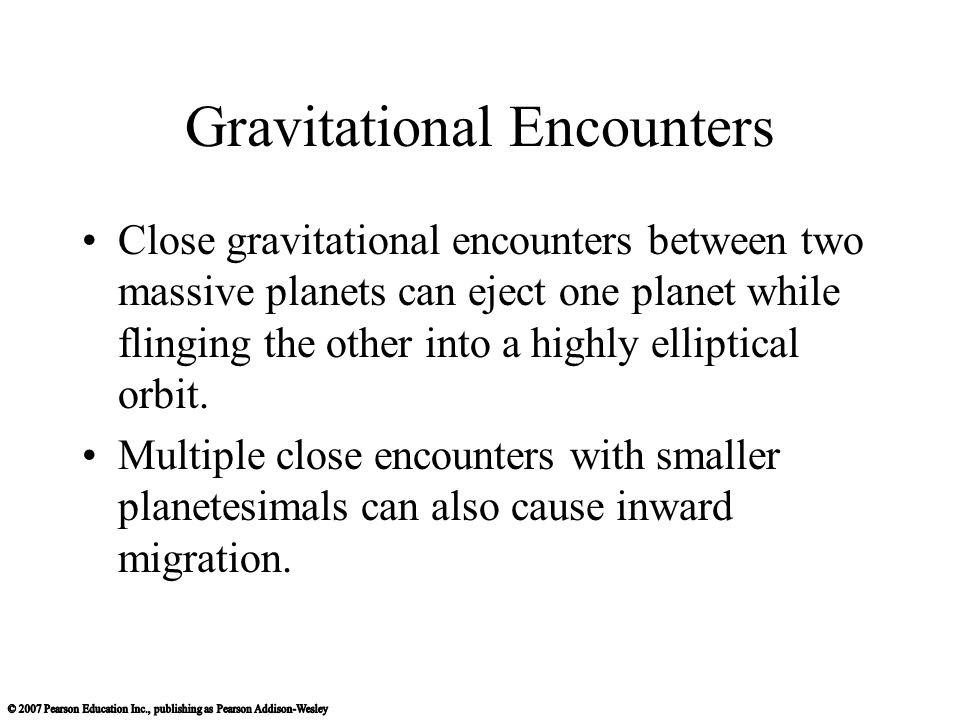 Gravitational Encounters