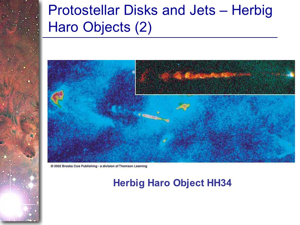 Protostellar Disks and Jets – Herbig Haro Objects (2)