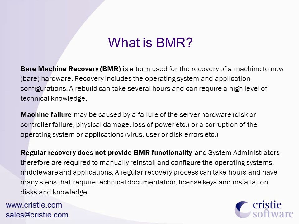 What is BMR