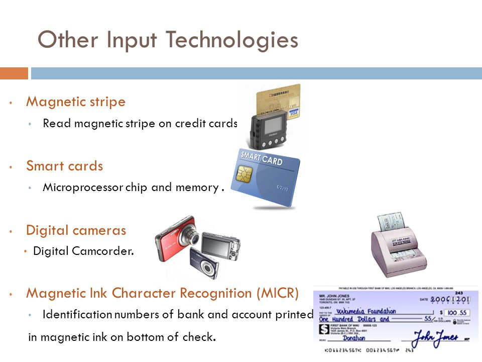 Other Input Technologies
