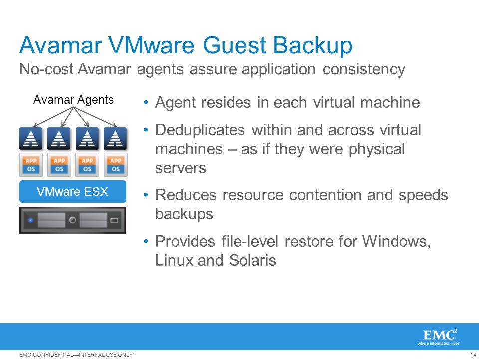 Avamar VMware Guest Backup