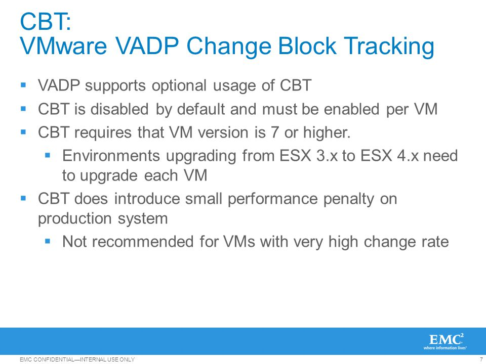 CBT: VMware VADP Change Block Tracking