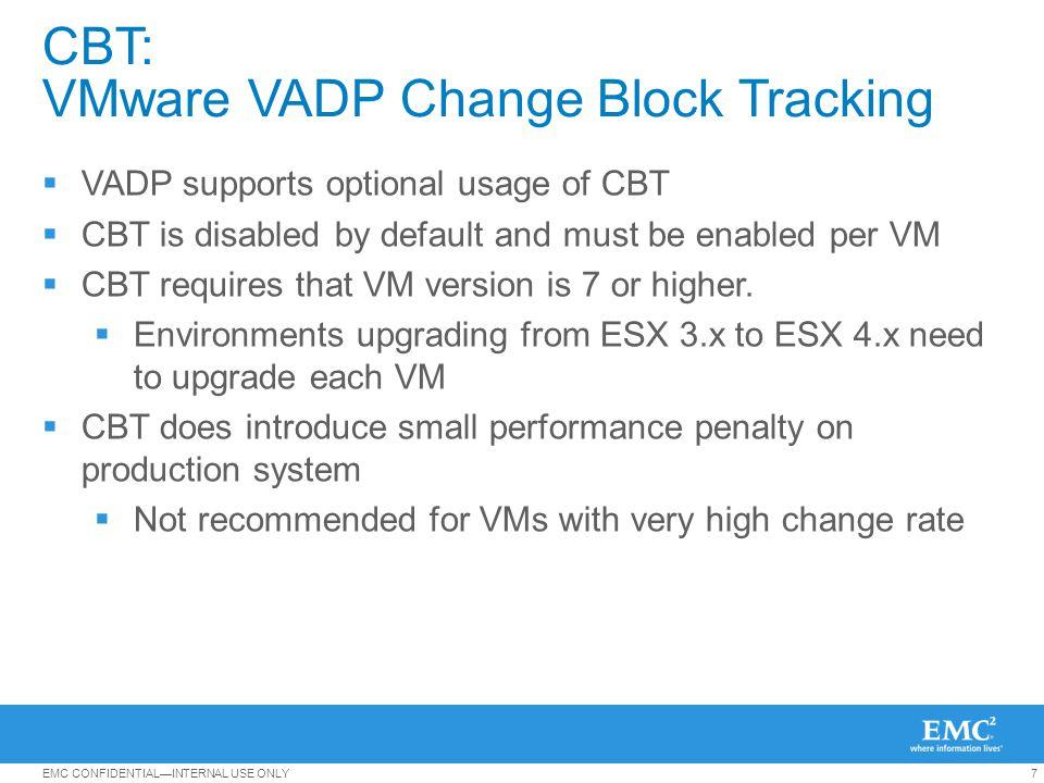 CBT: VMware VADP Change Block Tracking
