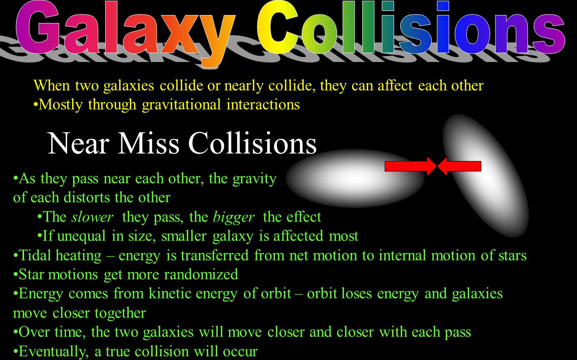 Near Miss Collisions Galaxy Collisions