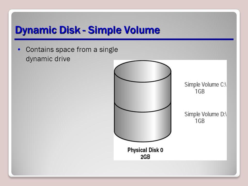 Dynamic Disk - Simple Volume