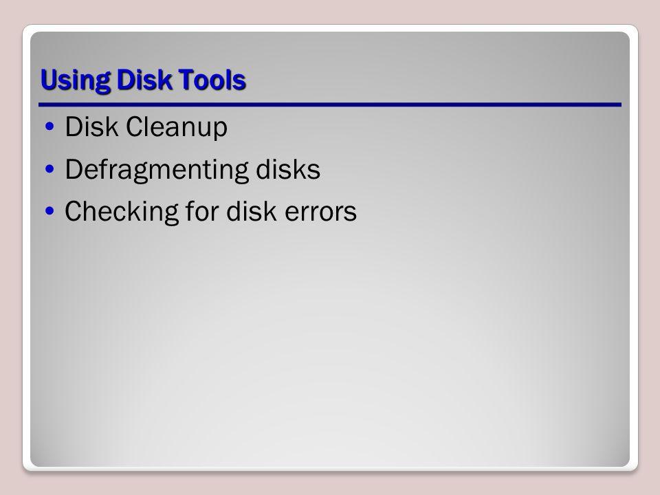 Checking for disk errors