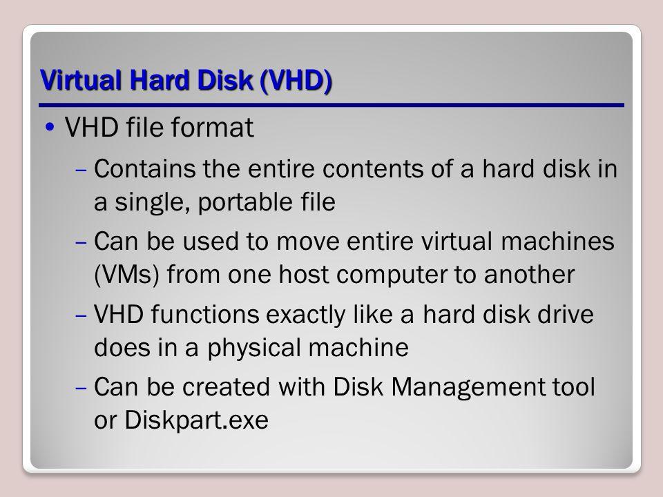 Virtual Hard Disk (VHD)