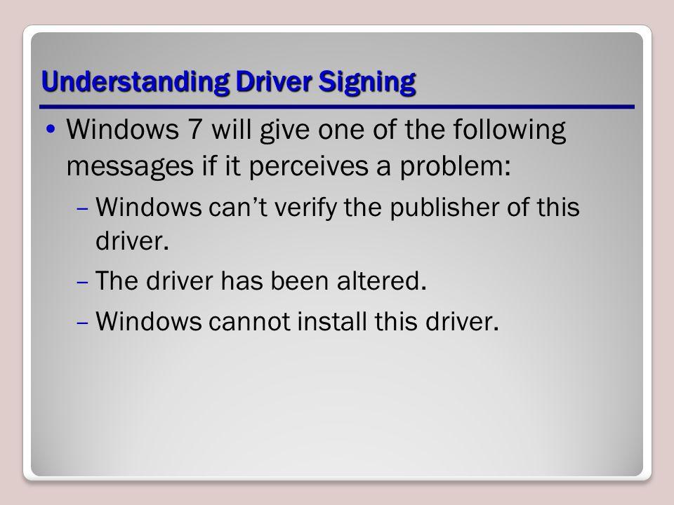 Understanding Driver Signing