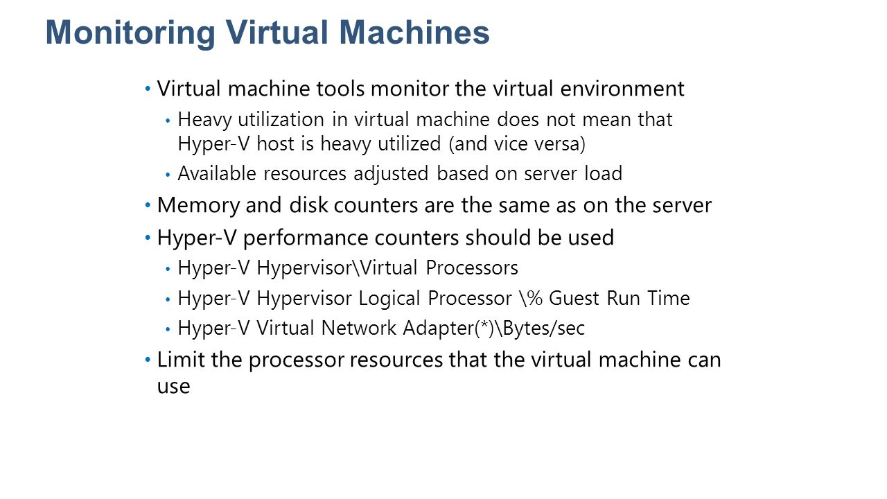 Monitoring Virtual Machines