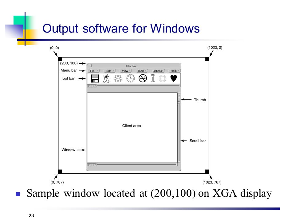Output software for Windows